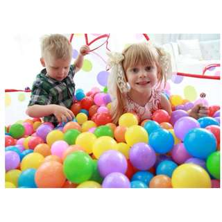 Colourful Plastic Balls - 3 sizes available
