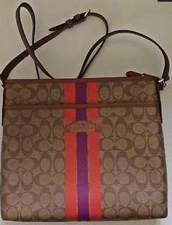 Authentic Coach File Stripe Bag