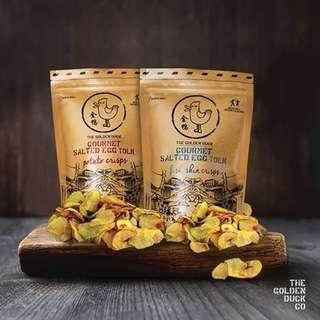 新加坡🇸🇬最新超人氣零食 - 咸蛋魚皮/薯片