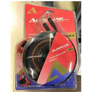 Audiobank AWK-8  Complete Car Audio Installation 8 AWG Wiring Kit - Power, Signal RCA,Speaker Cable
