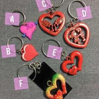 Valentine Hearts Keychains