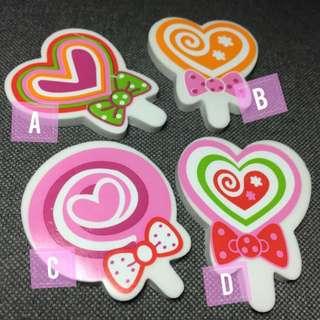 Valentine Hearts Erasers