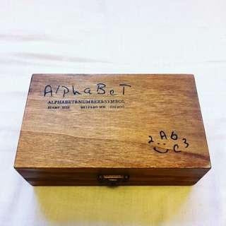 英文字母 數字 符號 木制印章 70個