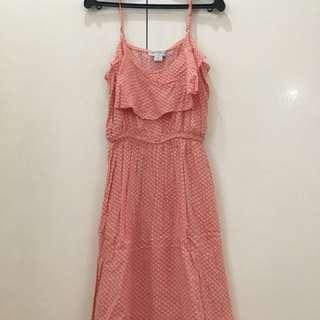 Cotton On: Peach flowy dress
