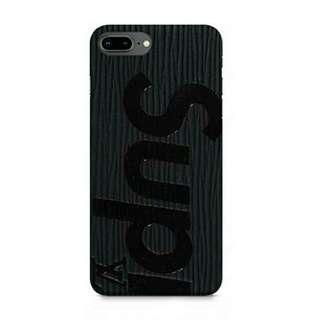 Supreme LV Card Holder iPhone 8 Plus Custom Hard Case