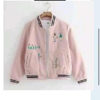Jaket wanita pink