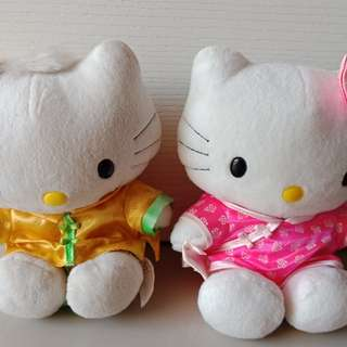 Hello Kitty Chinese Costume McDo Couple Plush Stuff Toy