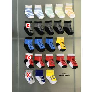 Baby Socks for Boys 0-3m