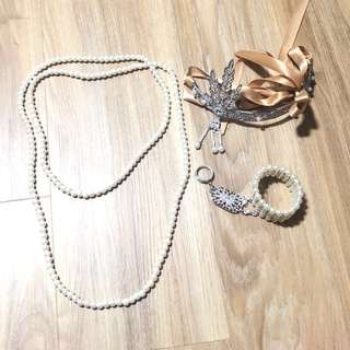 Gatsby accessories pearl set