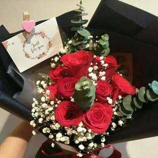 9 Kenya Roses Bouquet