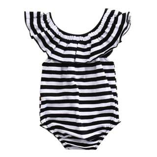 Baby girl stripes Romper (PO)