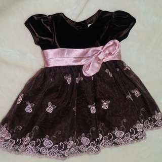 EUC Beautiful Brown Formal Dress for Baby