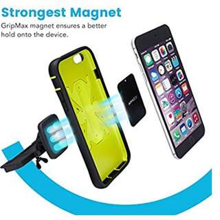 Cd slot magnetic phone holder