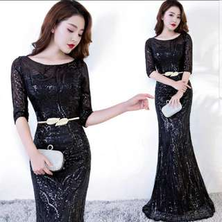 black mermaid Dress / evening gown