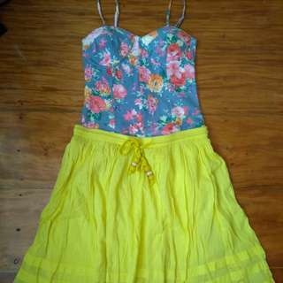 Floral Bustier with Old Navy skirt
