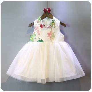 🐰Instock - watercolor floral cheongsam dress, baby infant toddler girl children glad cute 123456789
