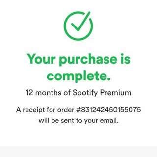 Spotify 1 year