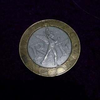 10 F bimetal coin 1991