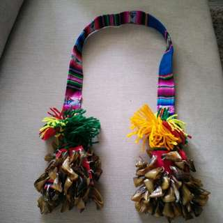 Chile indigenous necklace decorated with llama toenails