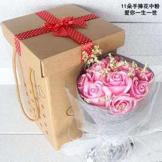 Eternal rose bouquet for your girl friend, wife or proposal , optional box @ 2$