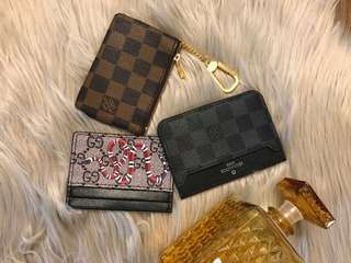 Cardholders and key pouch