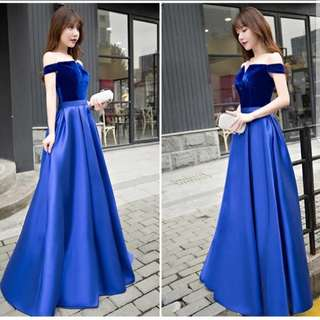 Dual tone electric blue dress / Evening Gown