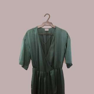 H & M Emerald Wrap around Dress