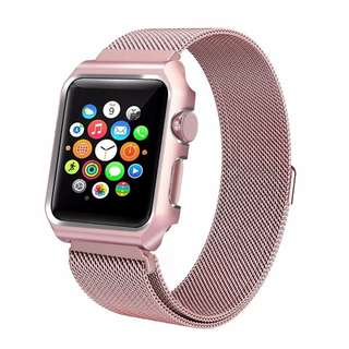NEW INSTOCK MILANESE APPLE IWATCH STRAP ROSE PINK