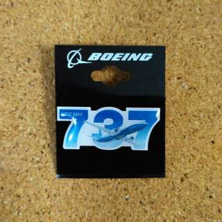 Boeing 737 pin badge