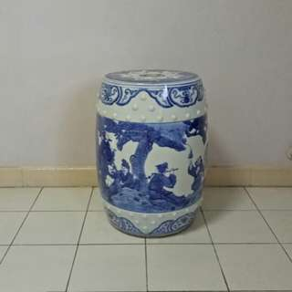 Blue And White Stool height 48cm diameter 29cm perfect