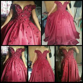 bloody red ball gown FOR RENT