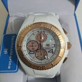 Original Technomarine Cruise Jellyfish Chronograph White of Pearl Unisex Watch