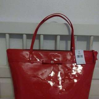 Original Kate Spade Sophie Camellia Street Tote in Chili Red