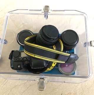 Sigma nikon vintage lens and camera