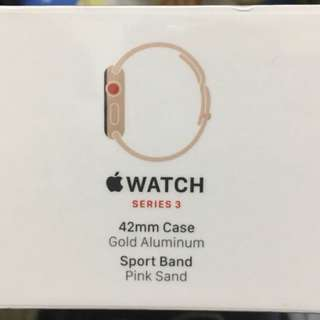 [BNIB] Apple Watch Series 3 Cellular GOLD 42mm