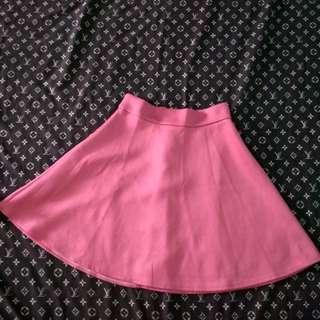 Rok polos pink