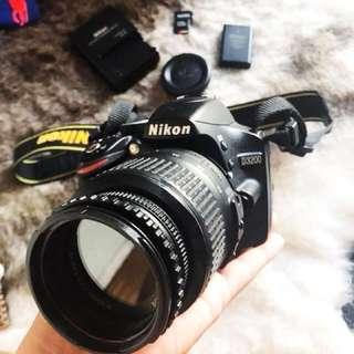 DSLR NIKON D3200 WITH NIKON 18-55 LENS|32GB MEMORY CARD|CAMERA BAG