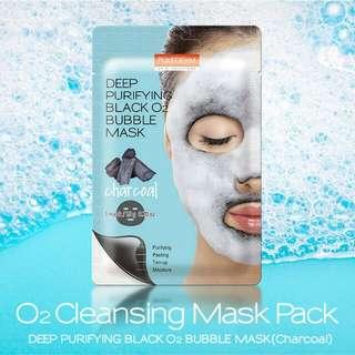 Purederm Deep Purifyibg Black 02 Bubble Mask #charcoal