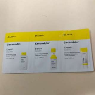 【Sample(包郵)】Dr.Jart+ Ceramidin™ 份子釘滋潤保濕急救套裝 1.5ml x 3