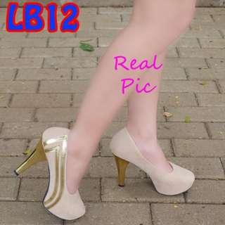 Pantofel High Heels Platform 12cm (LB12 Hitam)