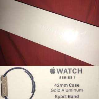 Apple watch series 1 gold with midnight blue