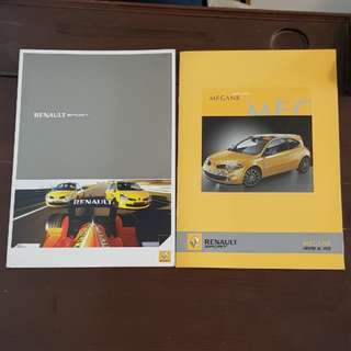 [price for 2] renault rs renaultsport sport r26 megane clio r27 172 F1 wearnes exklusiv promo promotional technical specifications options equipment sales material brochure catalogue