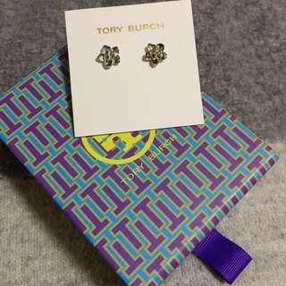 Tory Burch Stud Earrings silver flower 銀花耳環