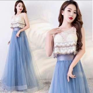Dual tone blue dress / evening gown