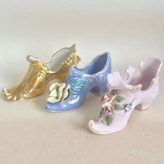 👠 MINIATURE PORCELAIN HIGH HEEL SHOES VASE DECOR