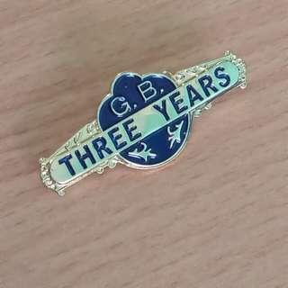 Girls' Brigade 3 year Badge
