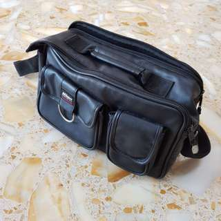 Original Nikon DSLR Twin Lens Leather Camera Bag