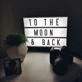 Light up letter board