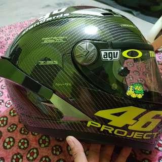 Helmet kyt repaint agv 46 carbon