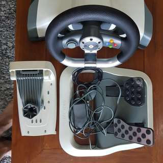Original Xbox 360 Steering wheel set
